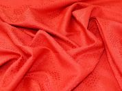 Textured Jacquard Fabric  Red Coral