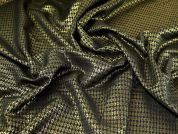 Metallic Jacquard Fabric  Black & Gold