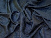 Textured Brocade Fabric  Navy