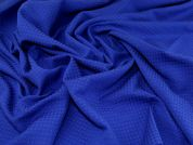 Stretch Jacquard Fabric  Royal Blue