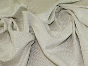 Metallic Jacquard Fabric  Cream & Silver