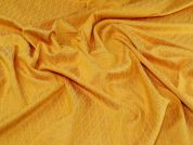 Stretch Jacquard Fabric  Golden Yellow