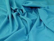 Stretch Jacquard Fabric  Turquoise