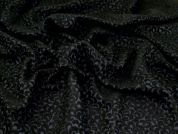 Textured Jacquard Fabric  Black & Navy