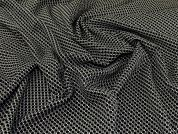Stretch Jacquard Fabric  Black & Ivory
