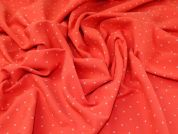 Woven Jacquard Fabric  Red Coral