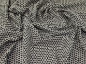 Textured Jacquard Fabric  Black & Cream
