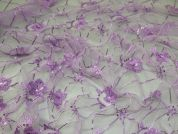 Sequin Lace Fabric  Lilac