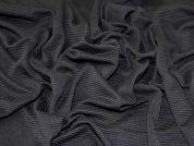 Jumbo Rib Jersey Knit Fabric  Black