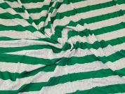Sweater Knit Fabric  Green & White