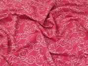 Stretch Jacquard Fabric  Cerise Pink
