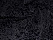 Stretch Suiting Fabric  Black Flock
