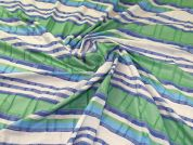 Cotton Shirting Fabric  Blue & Green