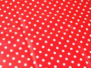 Spot Table Protector Fabric  Red