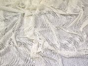Stretch Mesh Lace Fabric  Cream