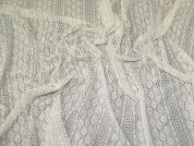 Textured Stretch Lace Fabric  Ivory