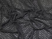 Textured Sheer Jersey Fabric  Black