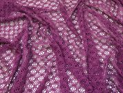 Stretch Lace Mesh Fabric  Plum