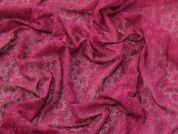 Geometric Lace Fabric  Plum