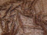 Sequin Mesh Lace Fabric  Brown