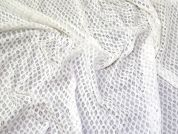 Geometric Stretch Lace Fabric  Ivory