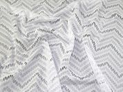 Crochet Style Lace Fabric  White