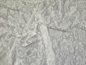 Floral Lace Fabric  Ivory