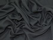 Textured Jersey Knit Fabric  Black