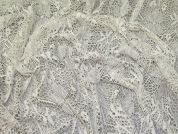 Stretch Lace Fabric  Silver Grey