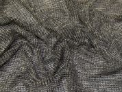 Sequin Mesh Lace Fabric  Black & Gold