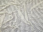 Crochet Style Lace Fabric  Cream