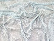 Geometric Lace Fabric  Pastel Blue