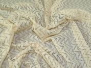 Geometric Lace Fabric  Cream