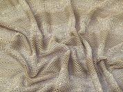 Sequin Mesh Lace Fabric  Beige