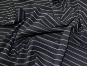 Ponte Roma Knit Fabric  Black & White
