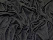 Soft Brushed Texture Knit Stretch Jersey Dress Fabric  Black