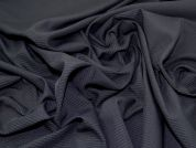 Pinstripe Polyester Suiting Dress Fabric  Black & Gold