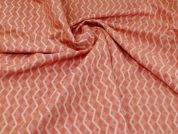 Textured Jacquard Fabric  Salmon Pink