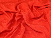 Textured Jacquard Fabric  Red