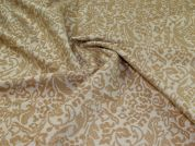 Textured Jacquard Fabric  Beige