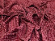 Woven Jacquard Fabric  Dark Red