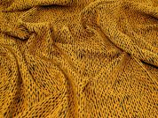 Stretch Jacquard Fabric  Mustard