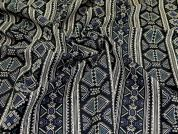Woven Jacquard Fabric  Black Multi