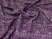 Stretch Jacquard Fabric  Purple