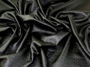 Quilted Faux Leather Fabric  Black