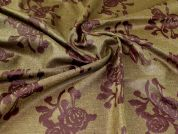 Textured Jacquard Fabric  Maroon & Gold