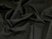 Textured Jacquard Fabric  Black