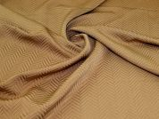 Textured Jacquard Fabric  Camel