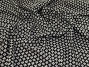 Reversible Jacquard Fabric  Black & Cream