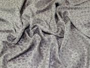 Textured Jacquard Fabric  Silver Grey